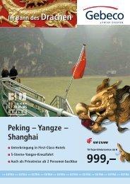 Peking – Yangze – Shanghai