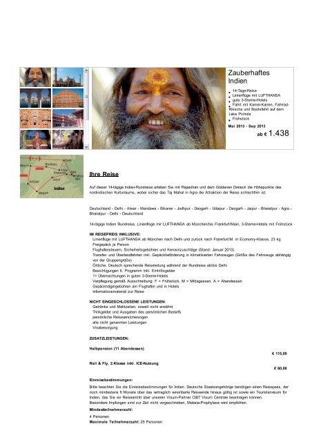 Zauberhaftes Indien 14-tägige Rundreise - Reisebüro Töpfer