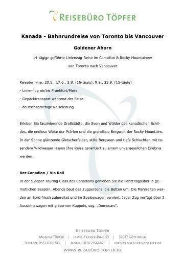 Goldener Ahorn - Reisebüro Töpfer