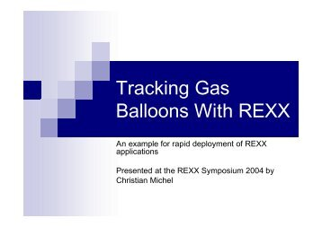 Tracking Gas Balloons With REXX