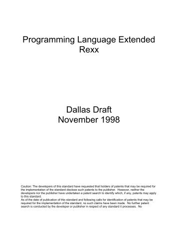 Word Pro - DALLAS.LWP - The Rexx Language Association