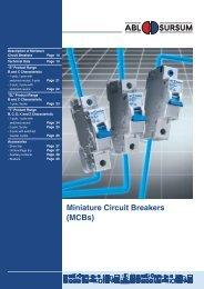 Miniature Circuit Breakers (MCBs) - Reykjafell