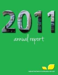 Annual Report 2011.indd - Regional Food Bank of Northeastern ...