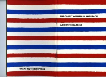 the object with haim steinbach adrienne garbini what nothing press