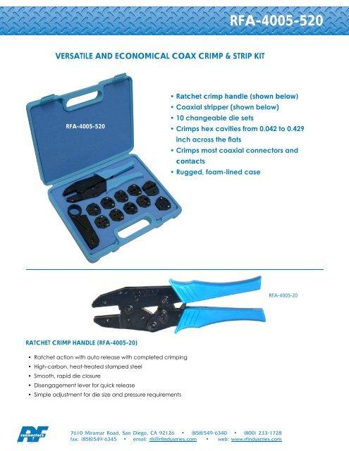 FOR RG174 .068, RG188 COAX CRIMP TOOL DIE SET .128 RG316 MINI RG59  .178
