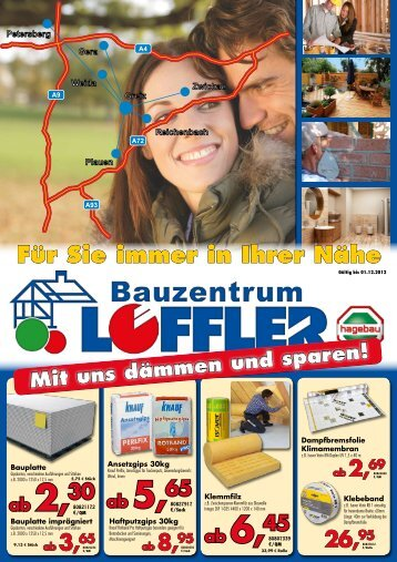 Bauzentrum Beilage - Oktober 2012 - Baustoffe Gebr. Löffler GmbH