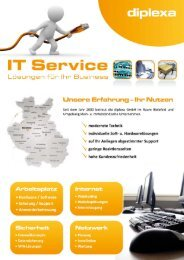 Flyer It-Service - diplexa Gmbh