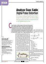 Analyze Coax Cable DigitalPulseDistortion