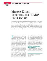 memory effect reduction for ldmos bias circuits