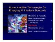 Power Amplifier Technologies for Emerging Air Interface Standards