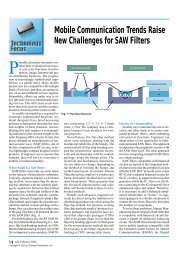 Mobile Communication Trends Raise New Challenges for SAW Filters