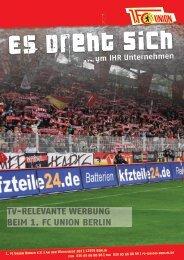 um IHR Unternehmen - 1. FC Union Berlin