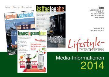 Mediainformationen 2014 Lifestyle-Zeitschriften (PDF) - rfe/eh ...