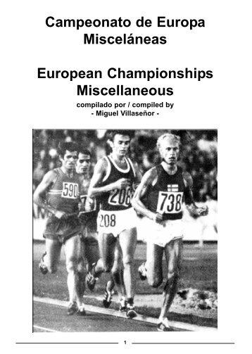 Campeonato de Europa Misceláneas European ... - RFEA.es
