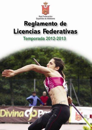 Reglamento de Licencias Federativas 2012/2013 - RFEA.es