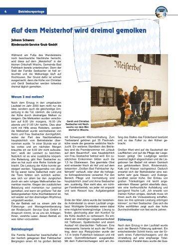 Auf dem Meisterhof wird dreimal gemolken - Bavarian Fleckvieh ...