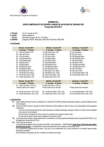 Campeonato de España Junior Verano - Real Federación Española ...