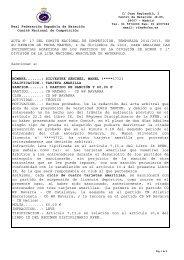 Acta 17 - 4 Diciembre 2012 - Real Federación Española de Natación