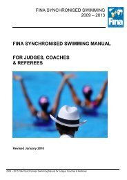fina synchronised swimming manual for judges, coaches & referees