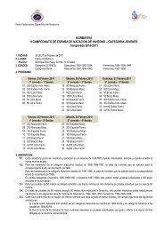 Categoría Jóvenes. 10/11 - Real Federación Española de Natación