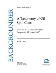 A Taxonomy of Oil Spill Costs - Resources for the Future