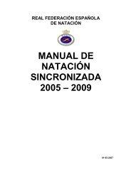 manual de natación sincronizada 2005 – 2009 - Real Federación ...