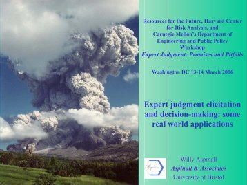 Expert judgment elicitation and decision-making - Resources for the ...