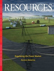 Resources: Fall/Winter 2008; Issue 167 - Resources for the Future