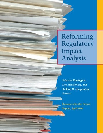 Reforming Regulatory Impact Analysis - Resources for the Future