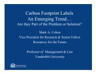 Carbon Footprint Labels An Emerging Trend… - Resources for the ...