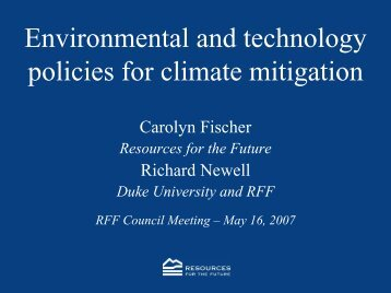Environmental and technology policies for climate mitigation
