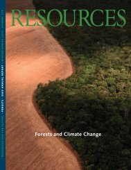 Winter 2010: Forests and Climate Change - Resources for the Future