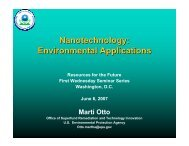 Nanotechnology: Environmental Applications - Resources for the ...