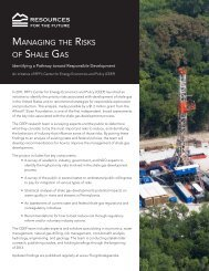 Managing the Risks of Shale Gas: Identifying a Pathway toward ...