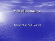 Middle East Waters: - Resources for the Future