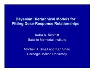 Bayesian Hierarchical Models for Fitting Dose-Response ...