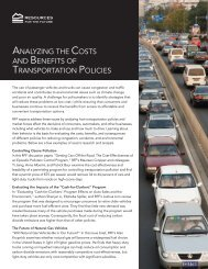 RFF's Research on Transportation - Resources for the Future