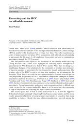 Uncertainty and the IPCC. An editorial comment
