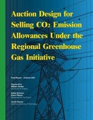 Auction Design for Selling CO2 Emission Allowances Under the ...