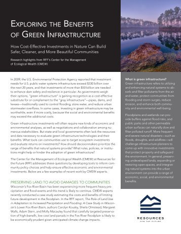 Green Infrastructure - Resources for the Future