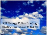 RFF Houston Briefing - Resources for the Future