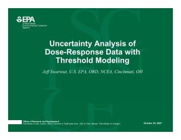 Uncertainty Analysis of Dose-Response Data with Threshold Modeling