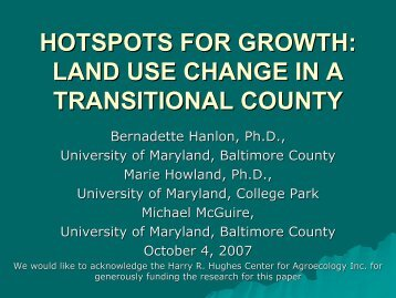 land use change in a transitional county