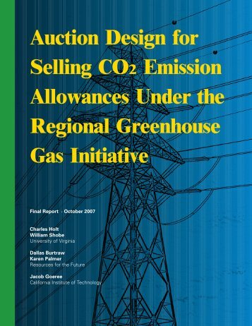 Auction Design for Selling CO2 Emission Allowances Under the ...