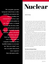 Nuclear Power: Clean, Costly, and Controversial - Resources for the ...