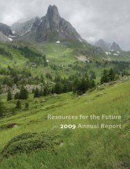 2009 Annual Report - Resources for the Future
