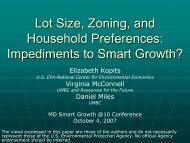 Lot Size, Zoning, and Household Preferences - Resources for the ...