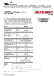 ARU4 RFID UHF Reader System ARU4-ETG-E6 - RFID Webshop