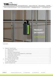 PRODUCT DATASHEET PRODUCT DATASHEET - RFID Webshop