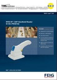 RFID HF / UHF Handheld Reader ID ISC.PRHD102 - RFID Webshop
